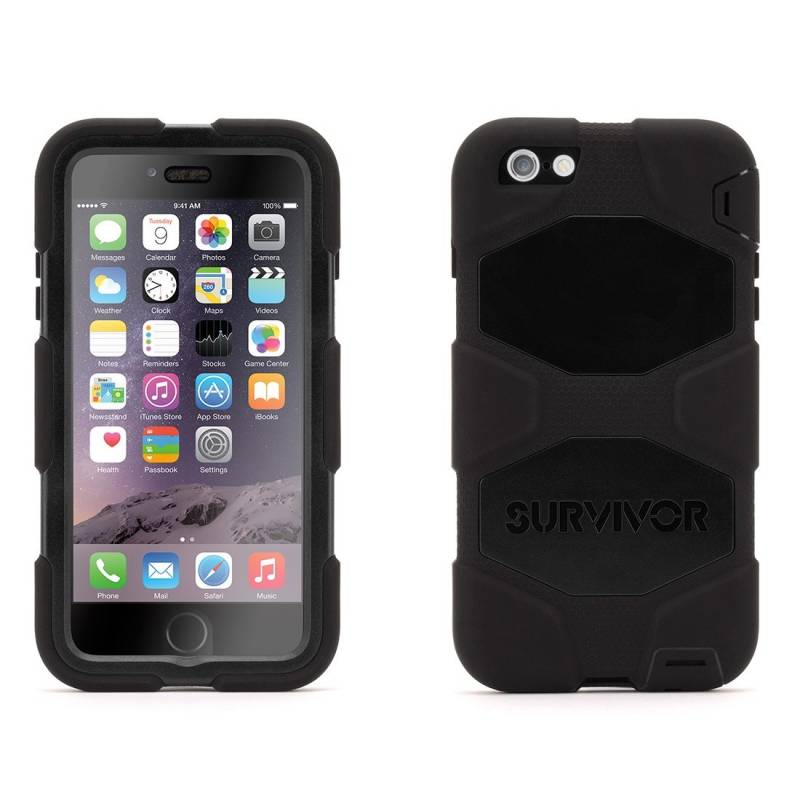 Griffin Survivor All-Terrain pre iPhone 6 Plus 6S Plus black - TRACO ... fe7db4f34ac