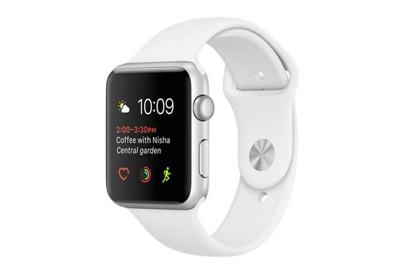 Watch Series 1, 42mm Silver Aluminium Case with White Sport Band