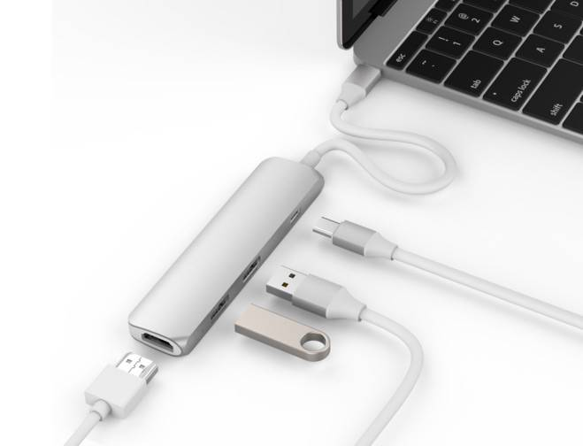 Hyper Drive USB Type-C Hub with 4K HDMI Silver