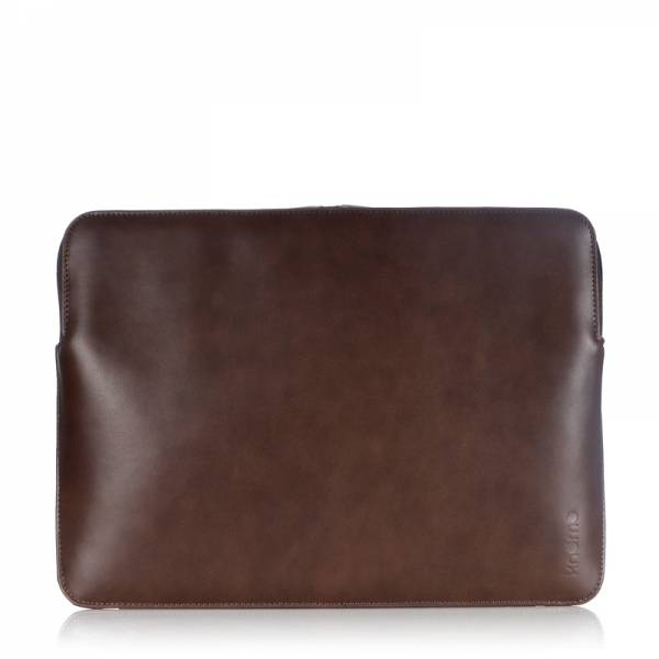 Knomo Leather Laptop Sleeve Brown 13""
