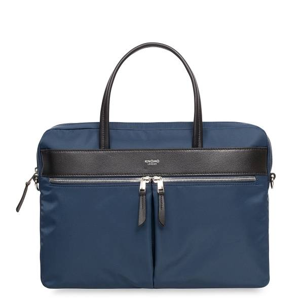 "Knomo taška Mayfair/Hanover Slim Briefcase 14"" Navy"