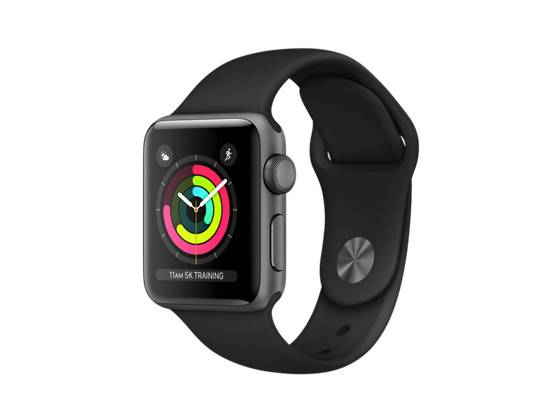 Watch Series 3 GPS 38mm Space Grey Aluminium with Black Sport Band