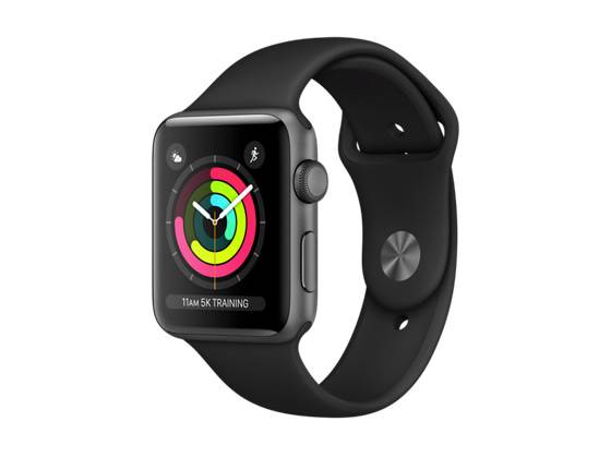 Watch Series 3 GPS 42mm Space Grey Aluminium with Black Sport Band