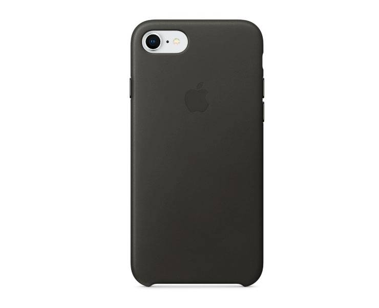 Apple iPhone 8  / 7 Leather Case - Charcoal  Gray