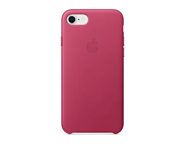 Apple iPhone 8  / 7 Leather Case - Pink Fuchsia