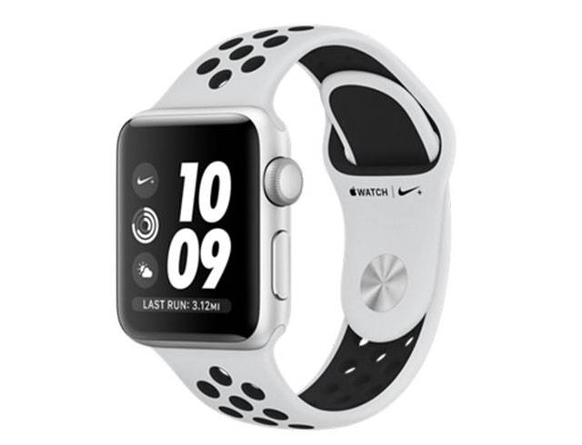 Apple Watch 3 Nike+ GPS, 38mm Silver Aluminium Case with Pure Platinum/Black Nike Sport Band