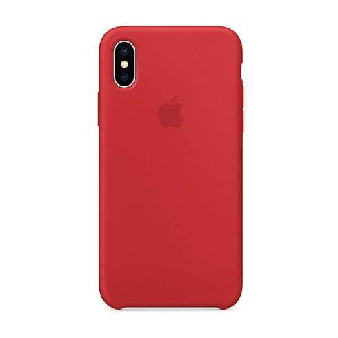 Apple iPhone X/Xs Silicone Case - (PRODUCT)RED