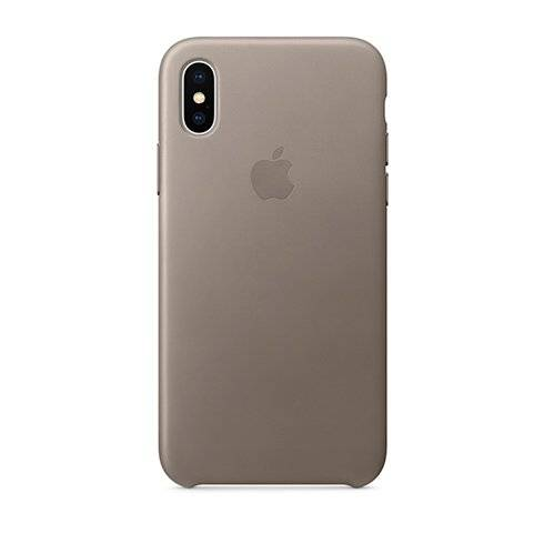 Apple iPhone X/Xs Leather Case - Taupe