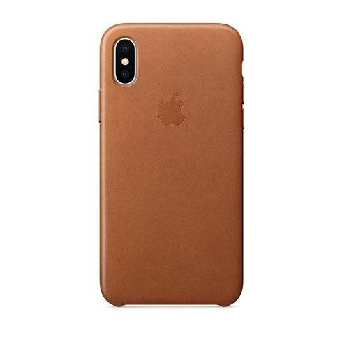 Apple iPhone X/Xs Leather Case - Saddle Brown