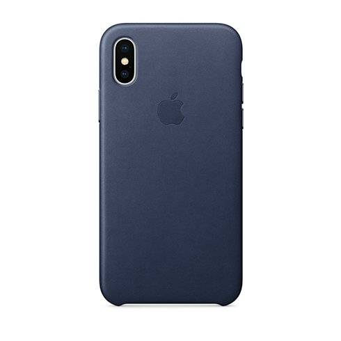 Apple iPhone X/Xs Leather Case - Midnight Blue