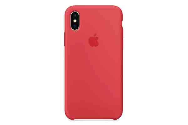 Apple iPhone X Silicone Case - Red Raspberry 0b5d8001f21