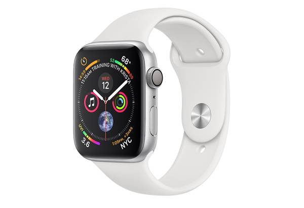 Watch series 4 GPS 40 mm Silver Aluminum Case with White Sport Band
