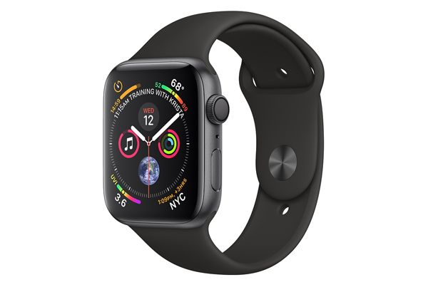 Watch series 4 GPS 44 mm Space Gray Aluminum Case with Black Sport Band