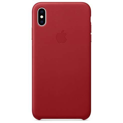 Apple iPhone XS Max Leather Case - (PRODUCT)RED