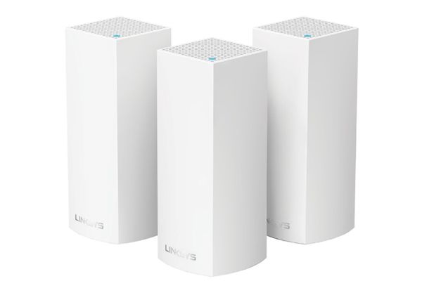 Linksys Velop Whole Home Intelligent Mesh WiFi System, Tri-Band, 3-pack (AC6600)
