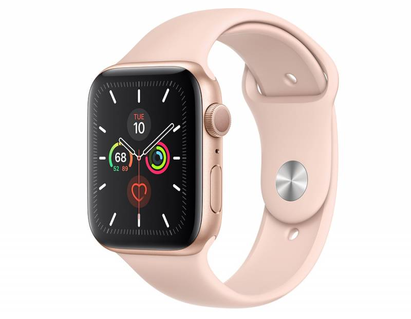 Watch Series 5 GPS, 44mm Gold Aluminium Case with Pink Sand Sport Band