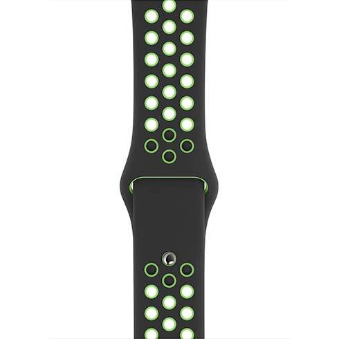 Apple Watch 44mm Black/Lime Blast Nike Sport Band - Regular