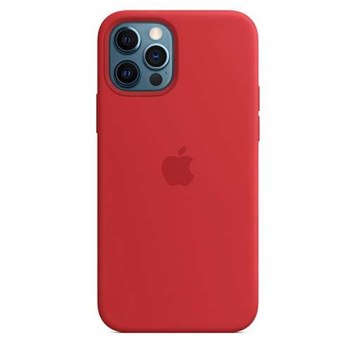 Apple iPhone 12/12 Pro Silicone Case with MagSafe - (PRODUCT)RED