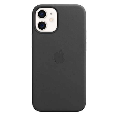 Apple iPhone 12 mini Leather Case with MagSafe - Black