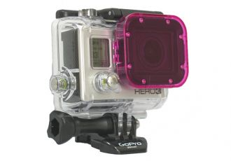 GOPRO HERO3 POLAR PRO CUBE FILTER MAGENTA