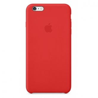 iPhone 6 Plus Leather Case Bright Red