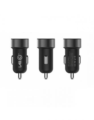 LAB.C 2 Port Car Charger A.L 3.4A - Space Grey