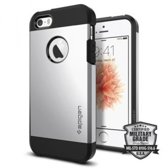 Spigen kryt Tough Armor pre iPhone 5/5s/SE - Satin Silver