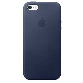 iPhone 5/5s/SE Leather Case Midnight Blue