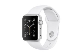 Watch Series 1, 38mm Silver Aluminium Case with White Sport Band