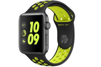 Watch Nike+, 42mm Space Grey Aluminium Case with Black/Volt Nike Sport Band