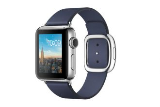 Apple Watch Series 2, 38mm Stainless Steel Case with Midnight Blue Modern Buckle - Small