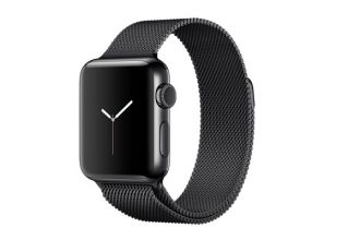 Apple Watch Series 2, 38mm Space Black Stainless Steel Case with Space Black Milanese Loop