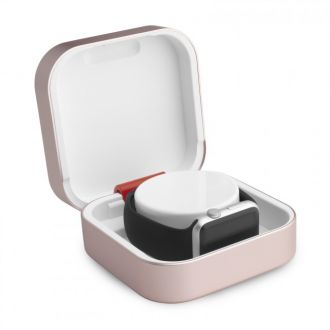 ClearGrass Amber cestovné púzdro a USB power banka pre Apple Watch - Rose Gold