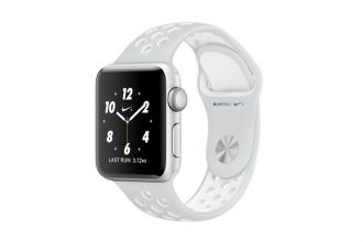 Apple Watch Nike+, 38mm Silver Aluminium Case with Platinum / White Nike Sport Band