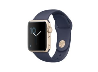 Watch Series 1, 38mm Gold Aluminium Case with Midnight Blue Sport Band