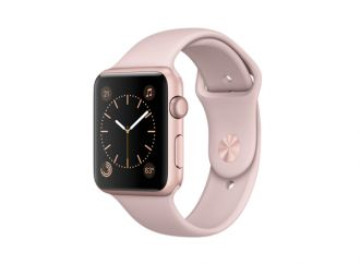 Watch Series 1, 42mm Rose Gold Aluminium Case with Pink Sand Sport Band