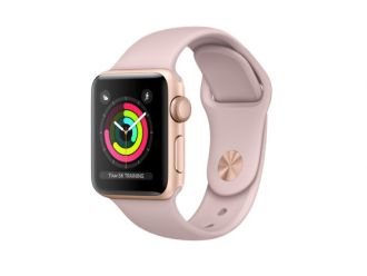 Watch Series 3 GPS 38mm Gold Aluminium with Pink Sand Sport Band