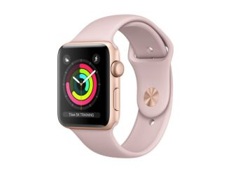 Watch Series 3 GPS 42mm Gold Aluminium with Pink Sand Sport Band