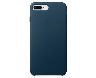 Apple iPhone 8 Plus / 7 Plus Leather Case - Cosmos Blue