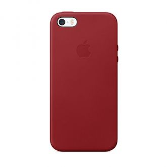 iPhone 5/5s/SE Leather Case Red