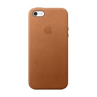 iPhone 5/5s/SE Leather Case Saddle Brown