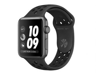 Apple Watch 3 Nike+ GPS, 42mm Space Grey Aluminium Case with Anthracite/Black Nike Sport Band