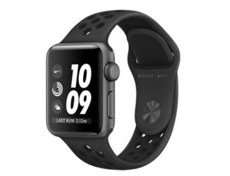 Apple Watch 3 Nike+ GPS, 38mm Space Grey Aluminium Case with Anthracite/Black Nike Sport Band