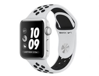 Apple Watch 3 Nike+ GPS, 42mm Silver Aluminium Case with Pure Platinum/Black Nike Sport Band