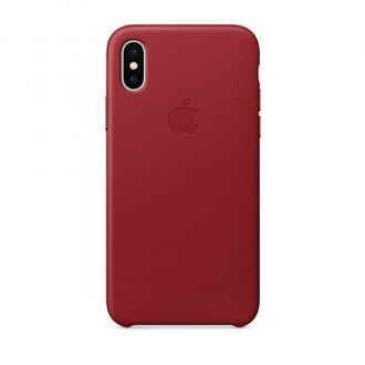 Apple iPhone X/Xs Leather Case - (PRODUCT)RED