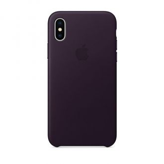 Apple iPhone X/Xs Leather Case - Dark Aubergine