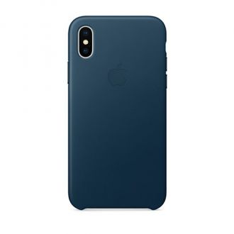 Apple iPhone X/Xs Leather Case - Cosmos Blue