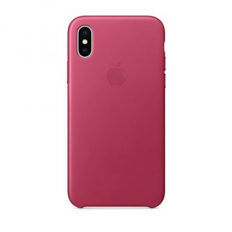 Apple iPhone X Leather Case - Pink Fuchsia