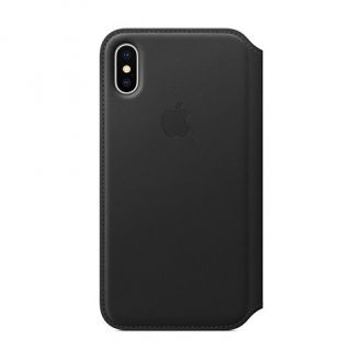 Apple iPhone X/Xs Leather Folio - Black
