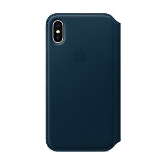 Apple iPhone X Leather Folio -Cosmos Blue
